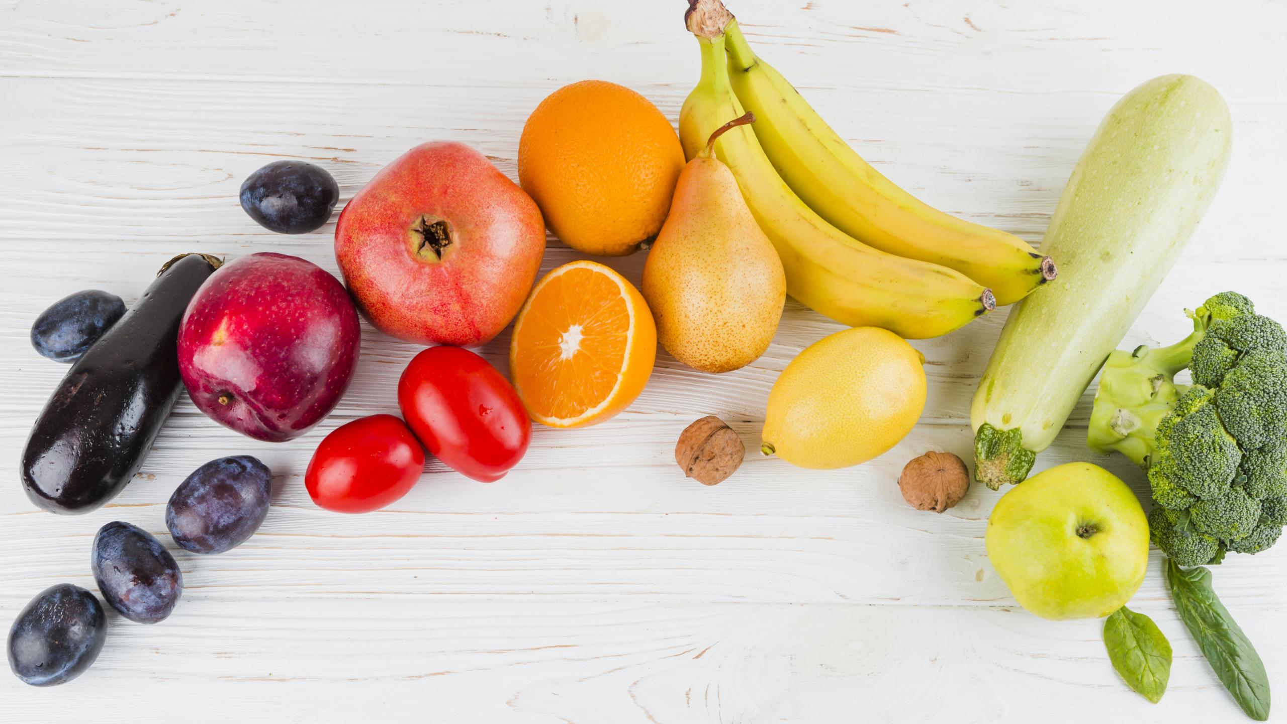 Colori e stagionalità di frutta e verdura